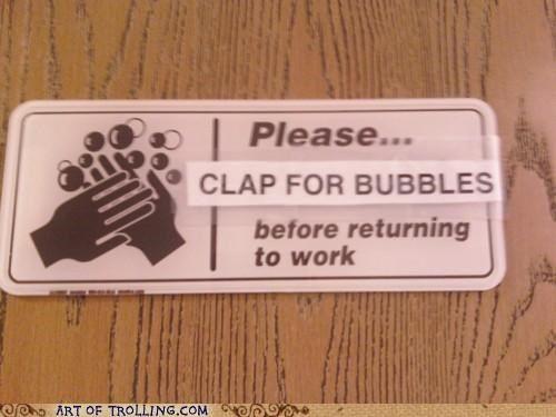 Clap for Bubbles