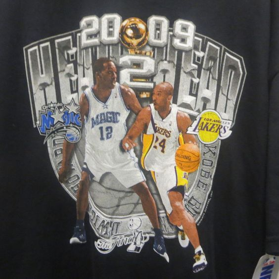 2009 NBA Finals T-Shirt Los Angeles Lakers Orlando Magic NOS Tag XL Head 2 Head #LosAngelesLakersOrlandoMagic