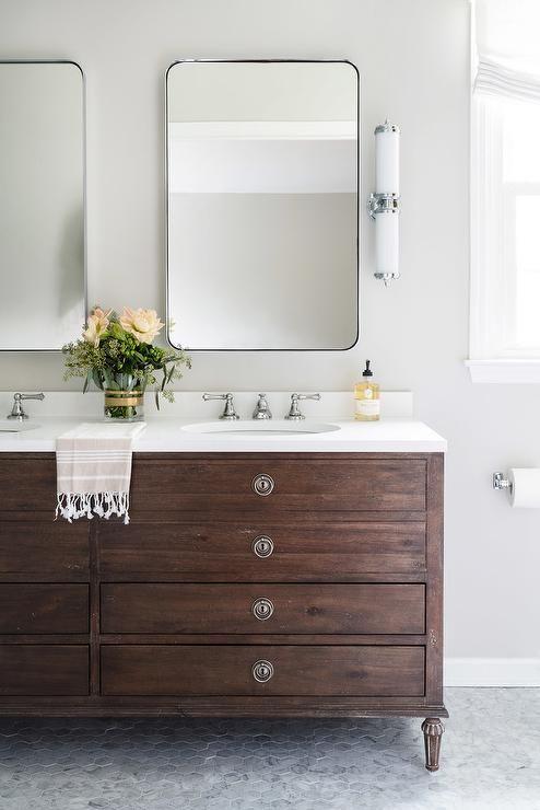 Gorgeous Bathroom Design Featuring A Restoration Hardware Maison