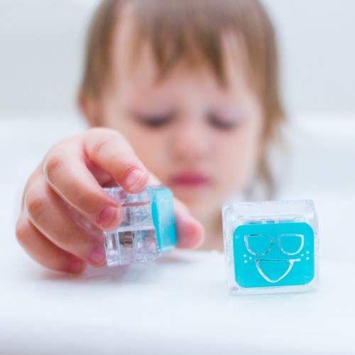 Set of 4 Glo Pals Light Up Sensory Devlopment Water Cubes Blue