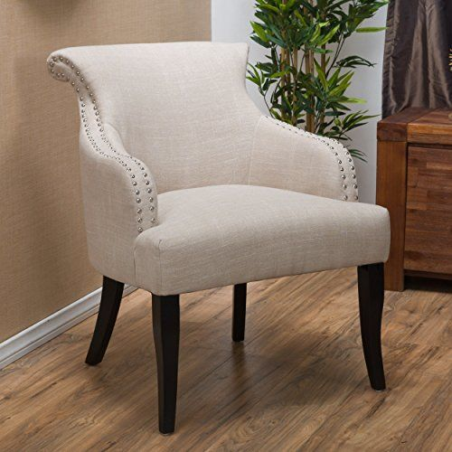 Elegant Living Room High Back Arm Accent Chair With Dark Wood Legs