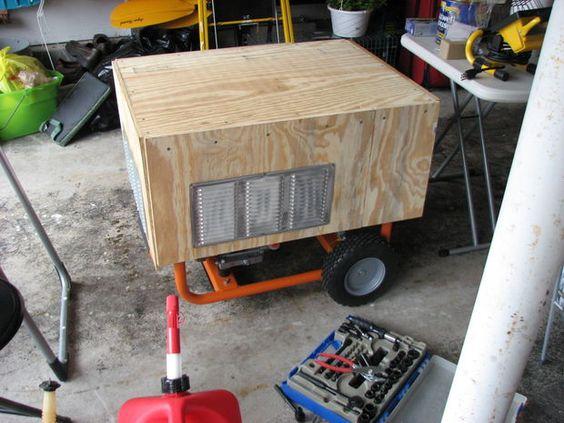 Make a rain proof portable generator housing | Generator ...