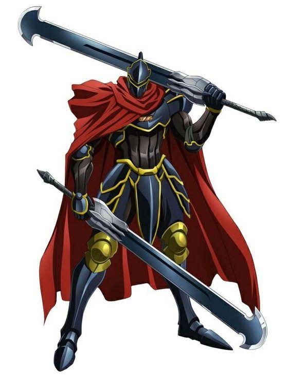 剣を構えているモモン