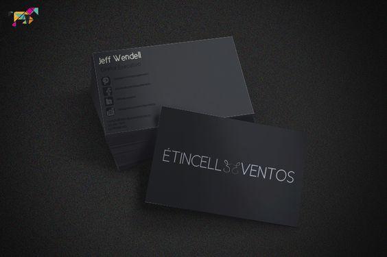 Lindo cartão da Etincelle Eventos by Tangram Marketing =D