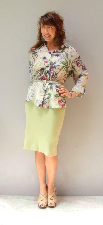 floral print blouse / vintage rose blossom by FiregypsyVintage, $29.92