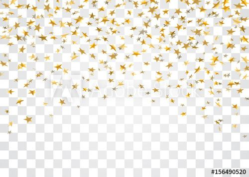 Gold Stars Falling Confetti Isolated On White Transparent Background Golden Explosion Confetti Abstract Stock Images Free Royalty Free Images Abstract Decor
