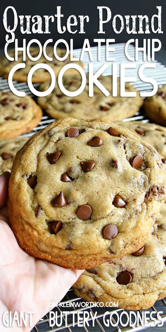 Quarter Pound Chocolate Chip Cookies