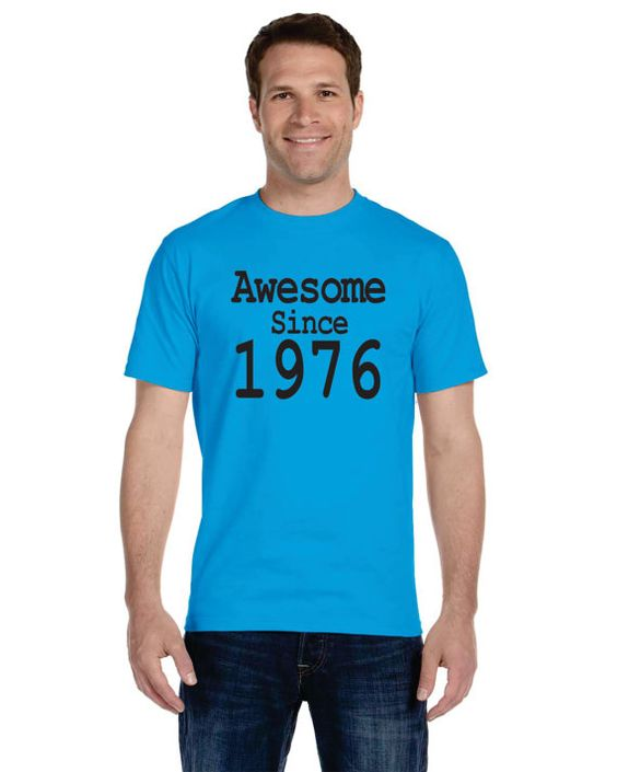 Graphic tees for 40th Birthday Ideas Awesome since by OodlesDecals