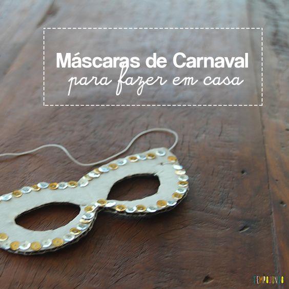 Que tal criar uma máscara de carnaval diferente esse ano? Aqui a gente mostra como fazer uma bem maluca!