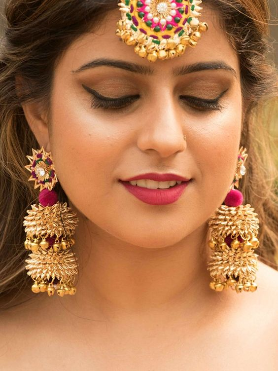 Latest Bride Bridal Earrings vintage boho chic bohemian tribal indian ethnic indo-western handmade handcrafted quirky gypsy unique made in india earrings ideas antique beautiful cool awesome indian wedding festive festival diwali party desi stone designer earrings design bollywood colorful bright hand painted india fashion jhumka jhumki gold silver exotic chaand chand baalis baali afghani pakistani gota jewellery jewelery traditional statement sangeet mehendi jewellery bridesmaid