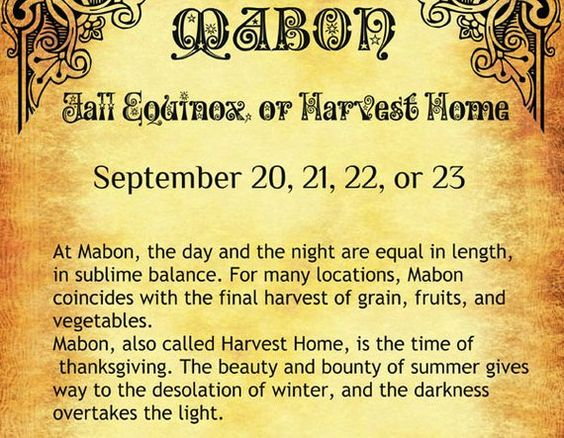 Mabon 8 Pages Book of Shadows Etsy Wiccan Weel of the Year | Etsy