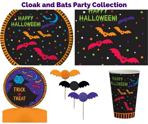 Halloween Cloak and Bats Party Collection Banner