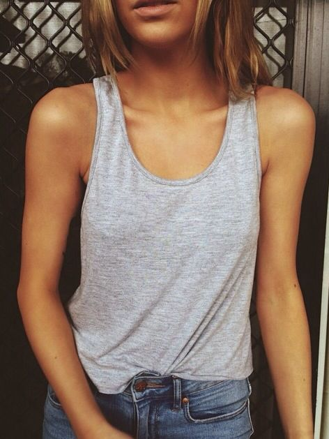 would obviously help if I had nice tanned toned arms buuut tight tank top without straps