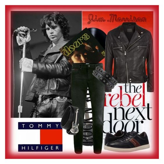 """Tommy Hilfiger &The Doors"" by anniecy ❤ liked on Polyvore featuring Topman, Tommy Hilfiger, AllSaints, Manuel Bozzi, men's fashion, menswear, tommyhilfiger, jimmorrison, thedoors and menstyle"