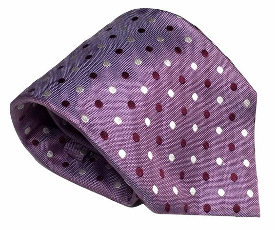 Henry Jacobson Silk Necktie Purple Polka Dot Woven 59 by 3.75 Inches New w/Tag #HenryJacobson #Tie