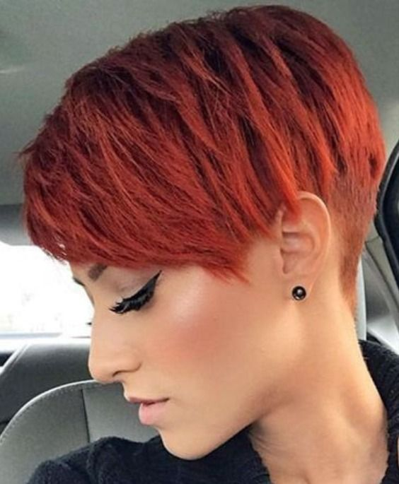Pin By Kyley Thomas On Hair I Want Short Red Hair Short Hair Styles Red Pixie Haircut