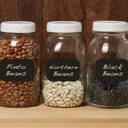 """Keep your jars and canisters organized with these essential chalkboard label decals.   Product: (1) 10"""" Label decal(..."""
