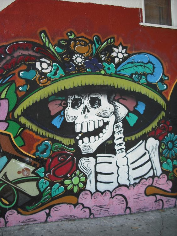 24th street mission district explore the world for Dia de los muertos mural