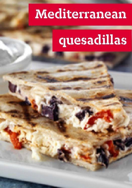 Grilled Mediterranean Quesadillas — A classic Mexican quesadilla ...