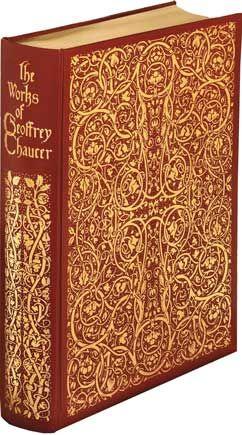 The pinnacle of Morris craftsmanship - The Works of Geoffrey Chaucer #williammorris #bookcover #design #vintagedesign #book #design