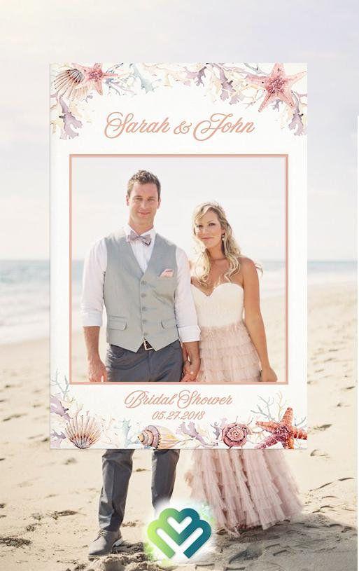 Beach Bridal Shower Photo Booth Frame Props Birthday Decor Etsy Wedding Photo Props Bridal Shower Photos Framed Wedding Photos