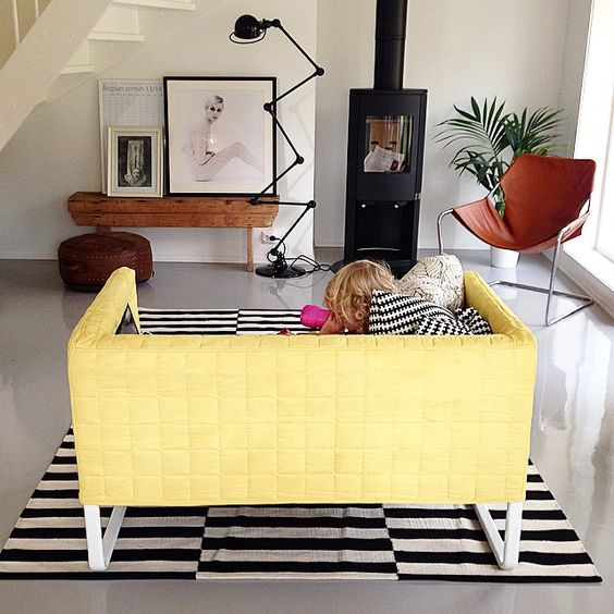 Stockholm playrooms and rugs on pinterest for Canape klippan ikea