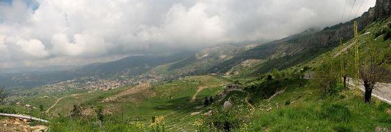 LEBANON, A VIEW OF THE HAMMANA VALLEY, BEAUTIFUL