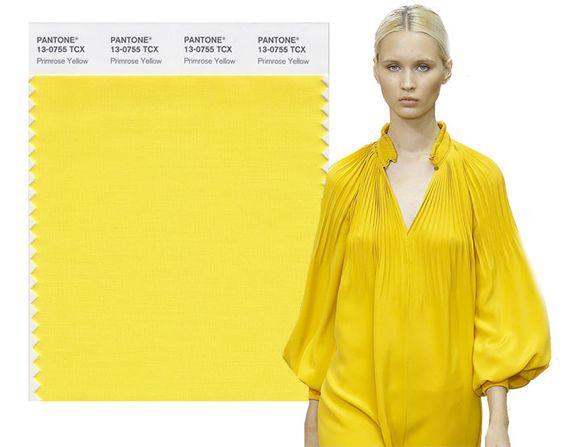 Primavera / verano 2017 colores PANTONE: Primavera amarilla: