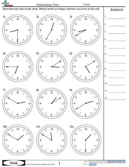 20 Clock Worksheets Grade 3 Time Worksheets Selection Of Us Worksheets Useful For Maths Time Worksheets Common Core Math Worksheets Math Math worksheets for grade time