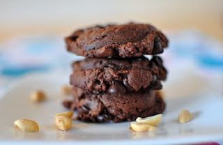 Salted Double Chocolate Peanut Butter Cookies | food i wish someone ...