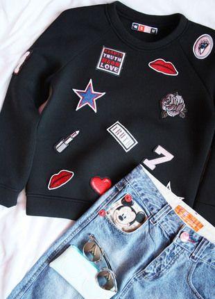 Kup mój przedmiot na #vintedpl http://www.vinted.pl/damska-odziez/inne-ubrania/12881764-cena-za-caly-zestaw-spodnica-z-wysokim-stanem-plus-bluza-naszywki:
