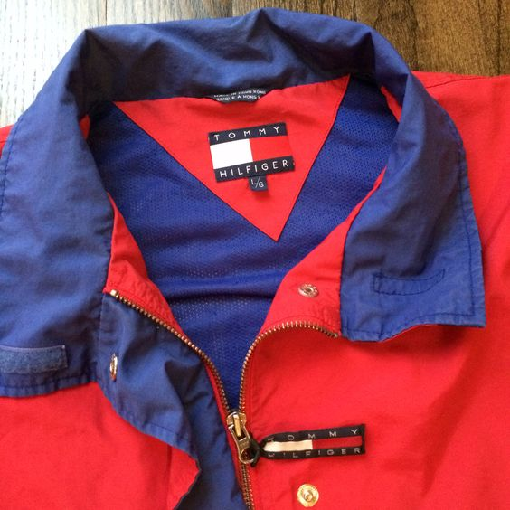 Vintage Tommy Hilfiger Red Windbreaker - Thumbnail 2