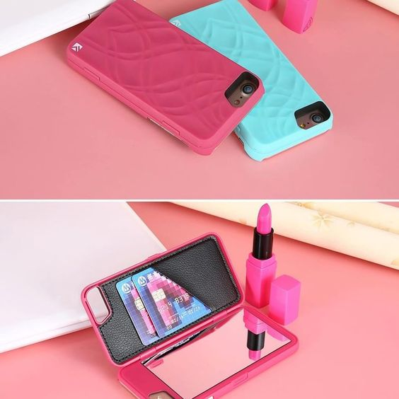 😍 Ladies this is a MUST HAVE! 😍  Wallet iPhone Case with a Secret Makeup Mirror!💄 🔥FREE Shipping + 50%OFF clock link to get yours now Phone Case For iPhone #iphonecase | iPhone | Apple | iPhone x | Flowers | Cases | mobile accessories |