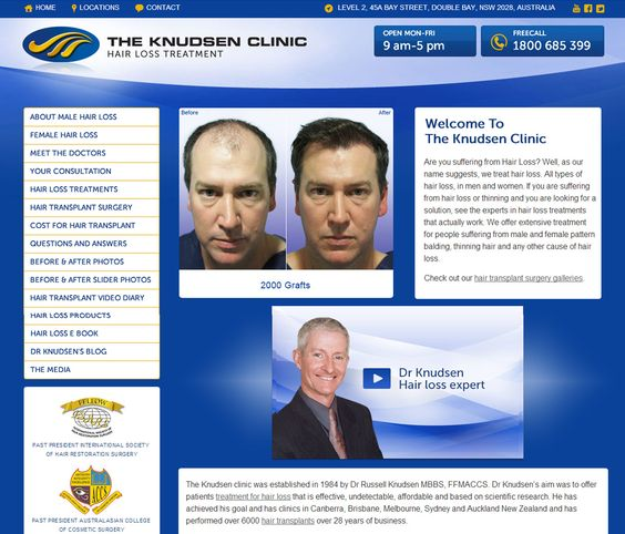 One of Australia's top #Hair #Replacement Surgeons required a stunning site to reflect his talent, professionalism and integrity. #Responsive site design makes the site look great on mobile devices!