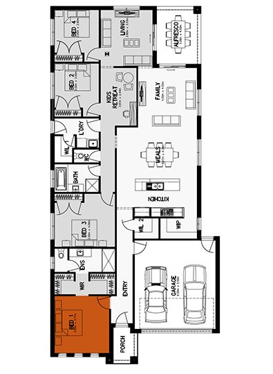 Hilton 26 Floor Plan Home Builders Melbourne New Home Builders Floor Plans