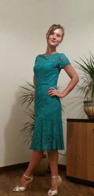 romantic green lace in explanation of Burberry  vestito verde pizzo  D&G #Larina
