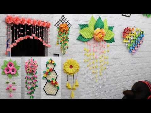 25 Best Collection Paper Flower Wall Hanging Craft Ideas Youtube Flower Crafts Paper Flowers Paper Flower Wall