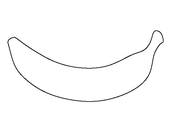 Banana pattern. Use the printable outline for crafts, creating