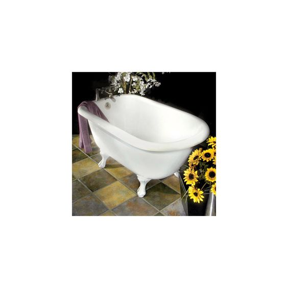 61  Bennington Acrylic Roll Top Clawfoot Tub Extra Deep Wide Interior My little house Pinterest tubs Acrylics and Tubs