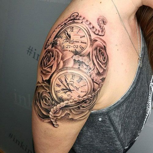 Cute Clock Tattoos For Women Best Tattoos For Women Tattoos For Daughters Watch Tattoos