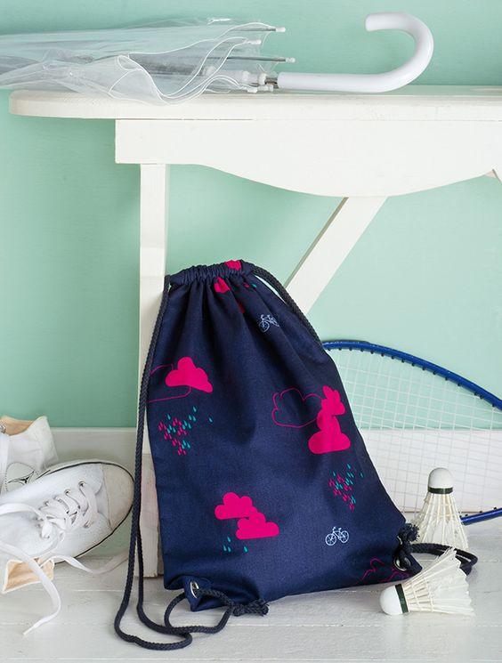 beutelrucksack selber n hen diy sewing pinterest. Black Bedroom Furniture Sets. Home Design Ideas