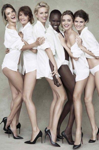Pirelli shoot - Miranda Kerr,  Helena Christensen, Alessandra Ambrosio, Alek Wek, Isabeli Fontana and Karolina Kurkova.