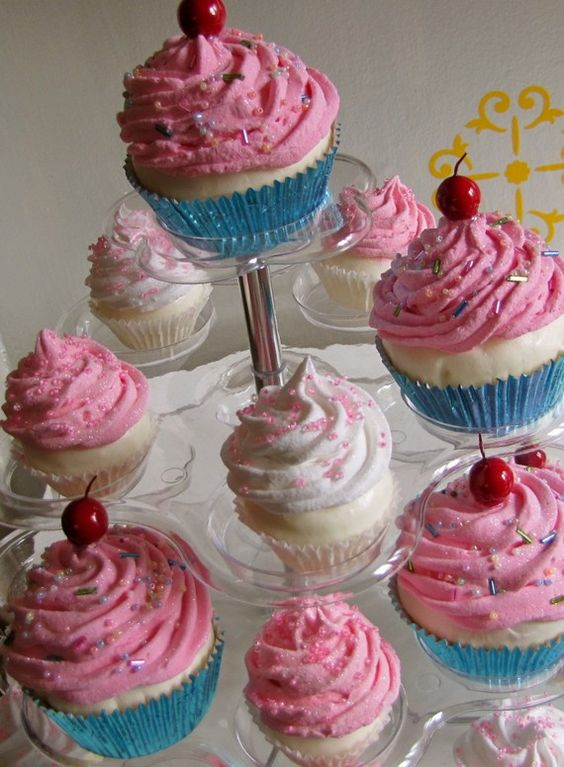 LOTS of different Fake Cupcake tutorials!  I downloaded the app. Several neat ideas.