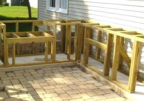 How To Build An Outdoor Kitchen How To Build Outdoor Kitchen Frame