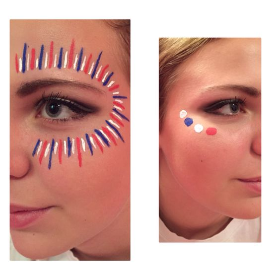High school Football  spirit  Face paint War paint  Game day