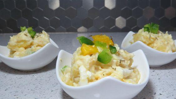 Receta de ensalda de papas con heavy cream