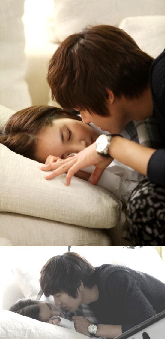 """City Hunter's adorable """"almost kiss"""" between  Lee Min Ho and Park Min Young"""