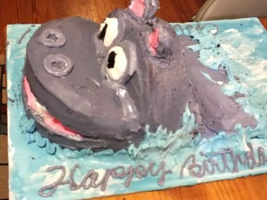 Amazing How To Make An Easy Hippo Birthday Cake Cool Birthday Cakes Personalised Birthday Cards Akebfashionlily Jamesorg