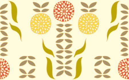Dahlia White Fabric Swatch. I like the warm colors.
