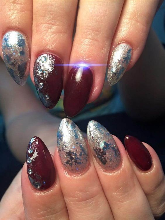 Day 186: Marble & Foil Nail Art - - NAILS Magazine: